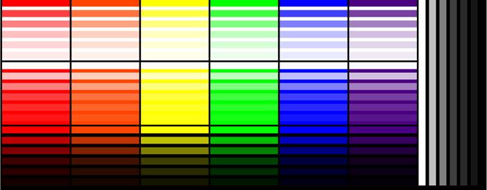 Week 1, color bars