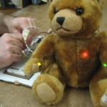 Bear lights up when you show him love