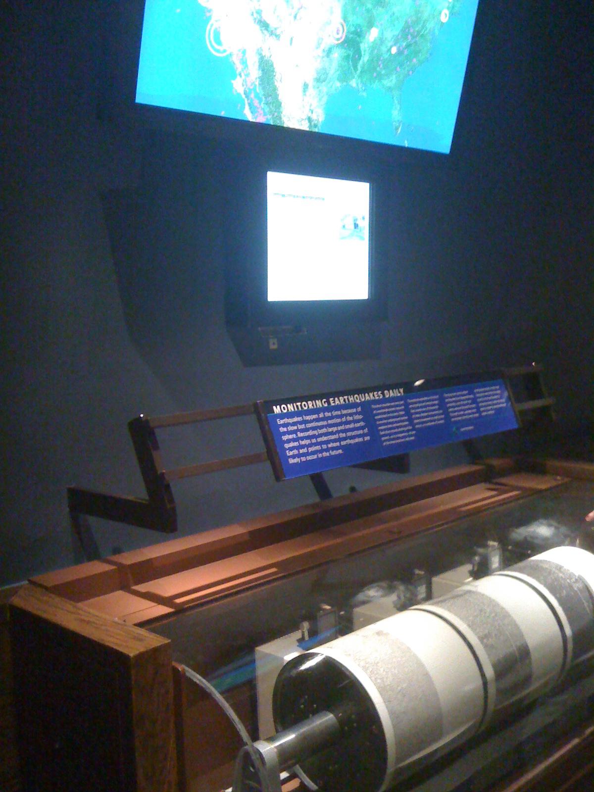 Earthquake display