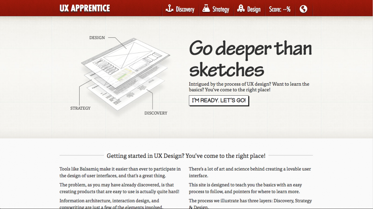 UX Design Fundamentals: UXApprentice.com