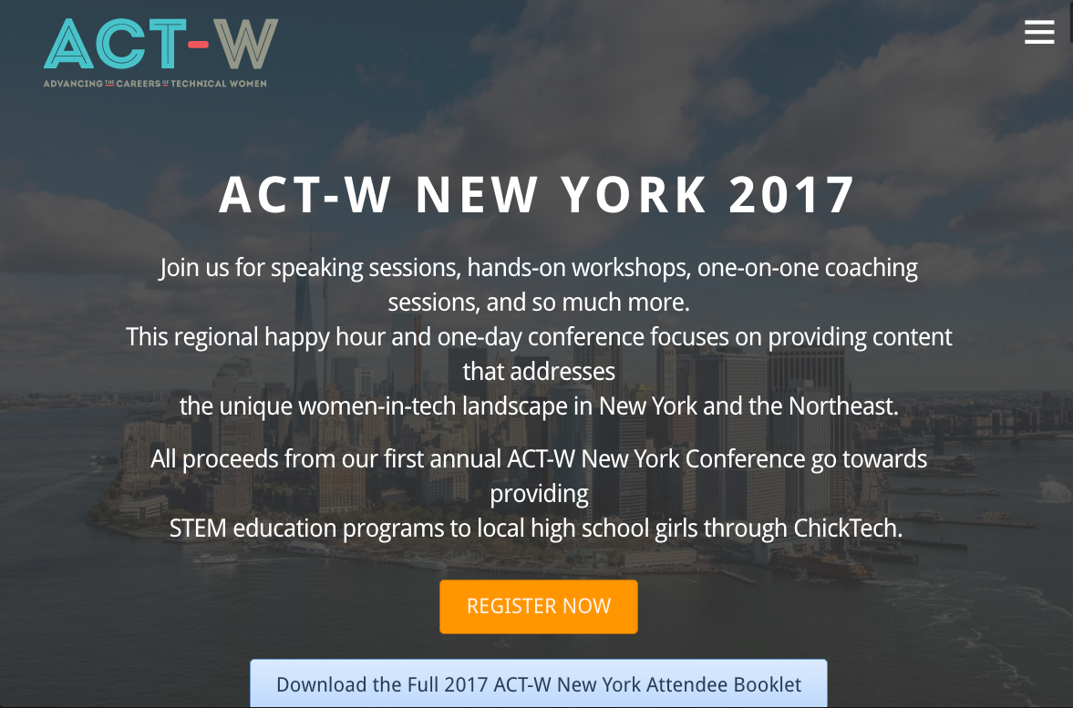 Event: Advancing The Careers of Technical Women (ACT-W), Details