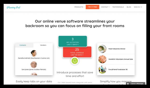 Screenshot of Planning Pod website