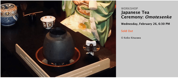 Japan Society's workshop on the Japanese Tea Ceremony