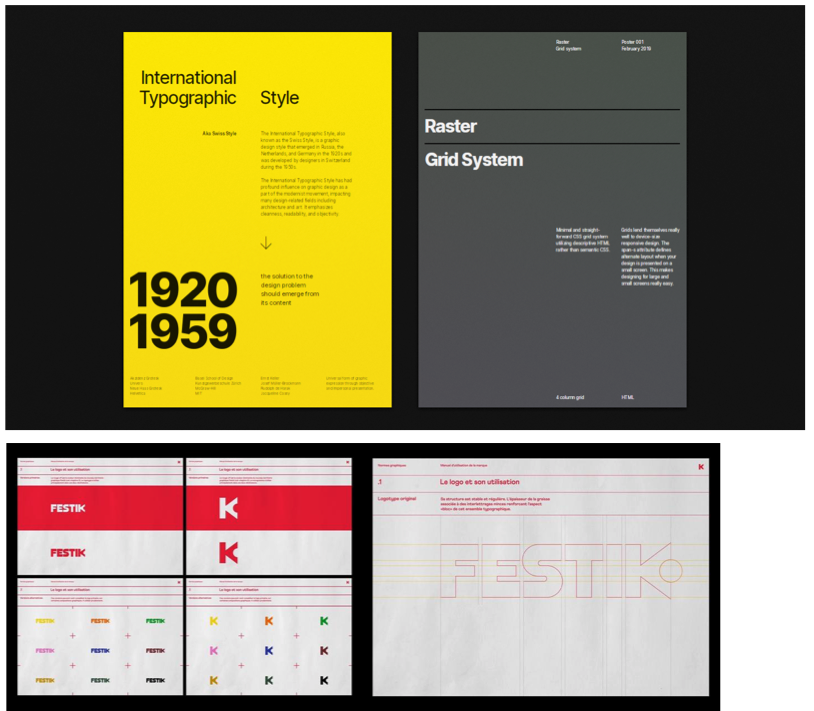 Examples of Swiss style posters/type design.