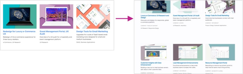 Showing changes to project descriptions on the homepage